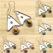925 Silver Plated Handmade Jewelry TRIBAL Earrings Birthday Present