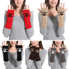 Womens Warmer Mitten Winter Long Knitted Wrist Arm Hand Warmer Fingerless Gloves
