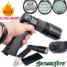 Police 16x LED Rechargeable 80000 Lumens Flashlight USB Charger T6 LED Torch