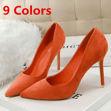 Pointed Toe Pumps Suede Stilettos High Heels Dress Party Wedding Womens Shoes