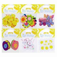 Easter Craft Felt Stickers 8 Pack Easter Design Easy-Peel Fridge Wall Decoration
