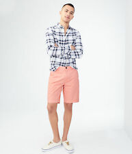 aeropostale mens classic stretch flat-front chino shorts