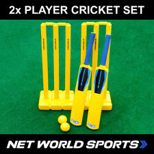 Backyard Cricket Set | Plastic Bat Ball Stumps | Kids Junior Senior Cricket Kit