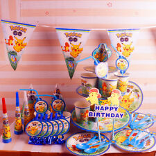 Pokemon Party Knives Forks Banners Tableware Birthday Decorations Supplies