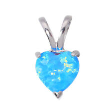 Blue White Fire Opal 925 Sterling Silver Women Jewelry Gems Pendant SP005-06