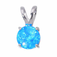 Blue White Fire Opal 925 Sterling Silver Women Jewelry Gems Pendant SP007-08