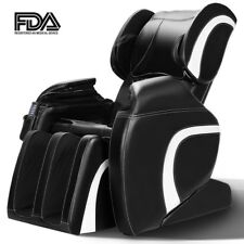 100W Electric Full Body Massage Chair Recliner Gravity Stretched Heat Foot Rest