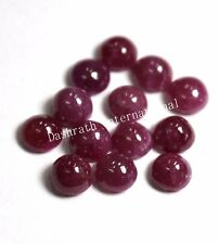 Natural Ruby Round Cabochon 3mm To 10mm Red Pink Color Opaque Loose Gemstone