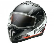NEW Polaris® Modular Snowmobile Helmet  Retro Black Red 2865071