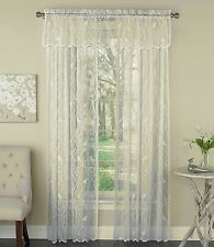 Songbird sheer Lace curtains Ivory -  Panels, Valances - {Brand NEW}