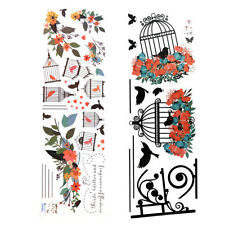 Removable Wall Sticker Birdcages&Flower Art Vinyl Decal Mural Home Bedroom Decor