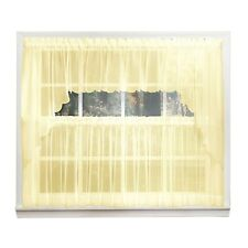 Emelia Sheer Voile Kitchen Curtain - Yellow Tiers, Swags, Valances - NEW !