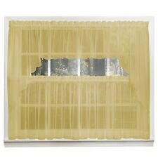 Emelia Sheer Voile Kitchen Curtain - Gold Tiers, Swags, Valances - NEW !