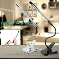 LED Desk Table Lamp USB Eye Care Reading Light Touch Control Flex Clamp CN