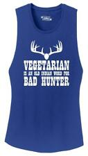 Ladies Vegetarian An Old Indian Word For Bad Hunter Funny Hunting Shirt