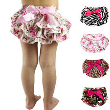 Toddler Baby Infant Girl Bowknot Ruffle Bloomer Nappy Underwear Diaper Casual