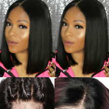 100% Remy Human Hair Bob Wig Pre Plucked Lace Front Wigs For Women Straight Wave