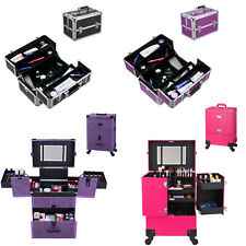 Fashion Makeup Nail Case Beauty Cosmetic Bag Hairdressing Box Suitcase Trolley
