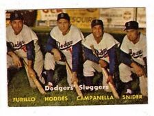 1957 Topps #400 Dodgers' Sluggers - Snider & Campanella, Poor Condition*