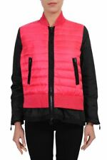 """Moncler """"Avril"""" Two Tone Windbreaker Jacket With Down Insulated Front Sz 0 1 2"""