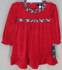 CHAPS By Ralph Lauren Baby Toddler Holiday Dress w/Bloomers Red 18M, 24M NEW
