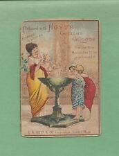 MOTHER & CHILDREN HOYT'S GERMAN COLOGNE 1883 Victorian Trade Card--LOWELL, MA