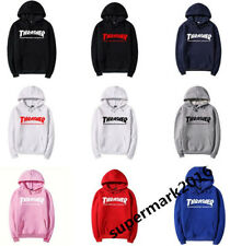 New Thrasher Logo Men/women with the flame fleece hoodies couple tops clothes