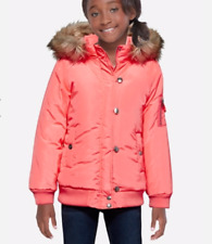 NWT Justice Girl's Insulated Bomber Jacket Coat Neon Warm Sz 20 Christmas Gift!