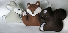 Woodland Themed Baby Mobile Charms  Fox, Bears, Squirrel,