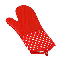 Heatproof Oven Mitts Silicone and Polyester Baker Gloves Kitchen