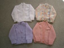 New Hand Knitted Baby Girl Cardigans - up to 3 months (14lbs)