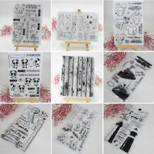 DIY Silicone Clear Rubber Stamps Seal Scrapbooking Album Card Decor Diary Craft