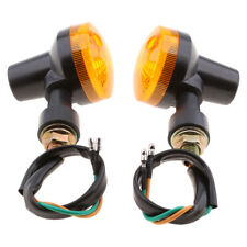 Motorcycle Motorbike Round Amber Turn Signal Indicator Light Lamps Bulb 12V