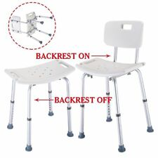 Adjustable Aluminium Bath Shower Seat Stool Chair Height Mobility Disability Aid