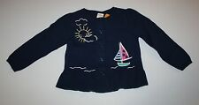 New Gymboree Navy Sailboat Scene Cardigan Sweater NWT 2T 3T 4T 5T Shore to Love