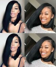 Medium Short Straight Lace Front Wig Human Hair Bob Remy Ombre Indian Hair Hg34