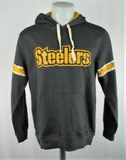 Pittsburgh Steelers Men's M-XL Charcoal Gray Pullover Hoodie NFL