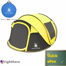 3-4 Person Camping Pop Up Tent Waterproof Hydraulic Automatic Outdoor Hiking GA