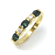 0.85 ct tw Natural Alexandrite & Diamond 14k Yellow Gold 5 Stone Band Ring