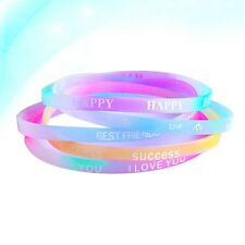 40pcs Fashion Silicone Wristband Chic Custom Bracelets for Fittness Party Favors