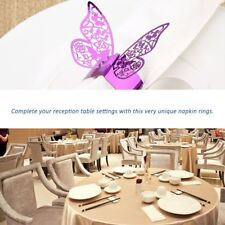50pcs Butterfly Style Laser Cut Paper Napkin Ring for Wedding Table Decoration X