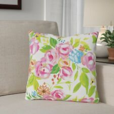 Winston Porter Barrales Flower Buds Throw Pillow