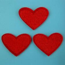 3 Heart Love Iron on Sew Patch Cute Applique Badge Embroidered Baby Kids School