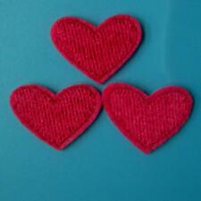 3 Heart Love Iron on Sew Patch Cute Applique Badge Embroidered Baby Kids School.