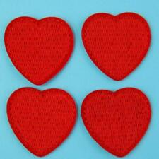 4 Heart Love Iron on Sew Patch Cute Applique Badge Embroidered Baby Kids School