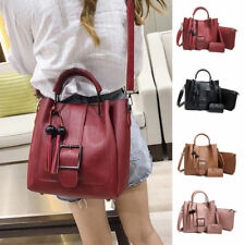 3pcs Women's PU Leather Handbag Shoulder Bags Tote Purse Messenger Satchel Sets