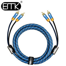 EMK Coaxial Digital Audio Cable 2Rca to 2Rca Male 2-Channel Signal Subwoofer