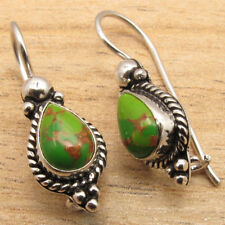 New Lot Jewelry PACKS ! GREEN COPPER TURQUOISE ART Earrings, 925 Silver Plated