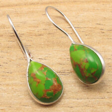 GREEN COPPER TURQUOISE Earrings ! Silver Plated Over Solid Copper Jewelry PACKS