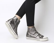 Ash Brand Women's Celeb All Star Virgin Buckle Leather  Shoes Sneakers Stone